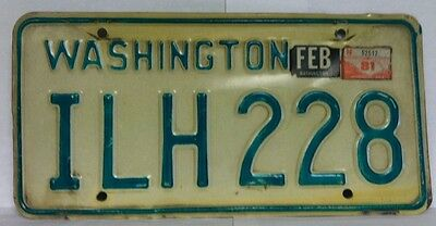 1981 WASHINGTON License Plate (ILH228)