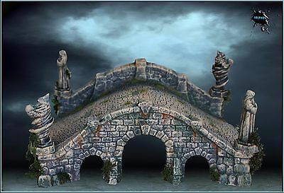 Large Bridge Scenery Terrain For Warhammer/lotr/warmachine-Hq Painted