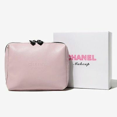 New Chanel VIP Cosmetic Makeup Beauty Travel Purse Pink Womens Bag W/ GIFT BOX