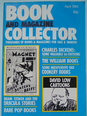 BOOK & MAG'  COLLECTOR  No 2 APRIL 1984 - DICKENS/JUST WILLIAM/BRAM STOKER