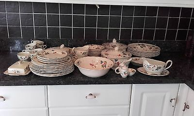 60 piece Antique Grindley Marlborough Royal Petal 'Cambria'
