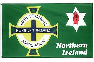 northern ireland football flag red hand