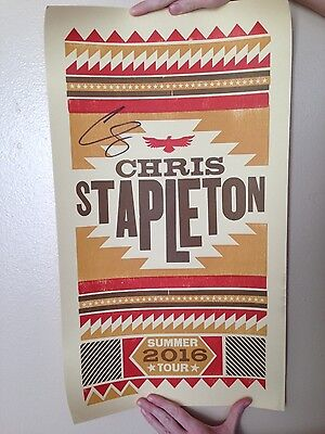 Chris Stapleton Autographed Poster Summer Tour 2016