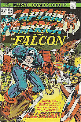 CAPTAIN AMERICA #196  Apr 1976 Jack Kirby art and writer