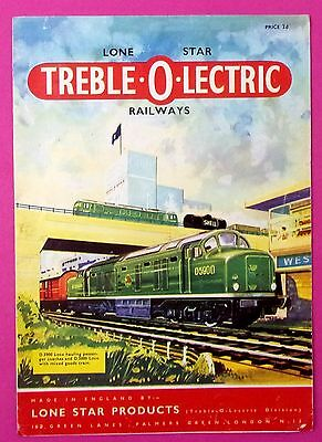 Lone Star Treble O Electric Railways product catalogue 1962