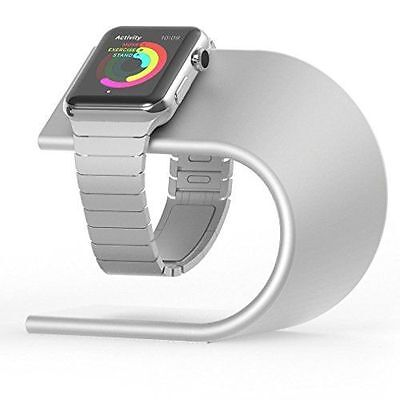 Nomad STAND-APPLE-S-001 Premium Charging Stand For Apple Watch - Silver  NEW