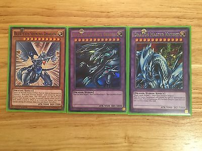 3 Card Set Ldk2-Enk40 + Dprp-En012 + 26 Blue-Eyes Ultimate Set! 1St Ed Mint
