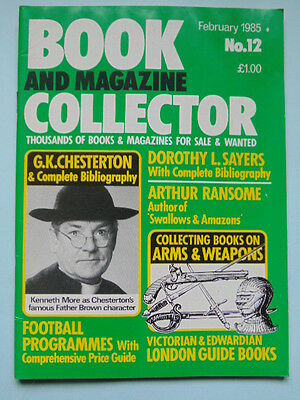 BOOK & MAG'  COLLECTOR  No 12 FEB. 1985 - FOOTBALL PROGS./RANSOME/ARMS & WEAPONS
