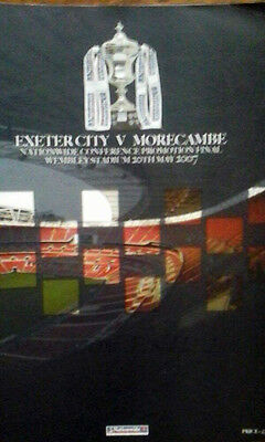 Exeter V Morecambe 20/5/2007 Conference Promotion Cup Final @ Wembley