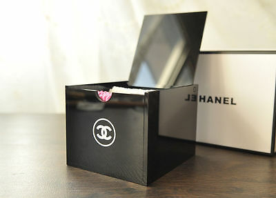NEW Chanel VIP Compartment Cube Beauty Makeup Brush Acrylic Organizer w gift box