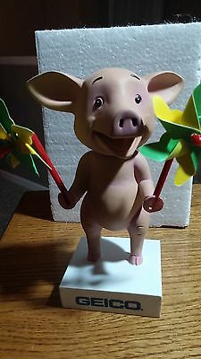 Wee The Pig Bobble Head 6 Inches Tall New In Box. Geico 2013