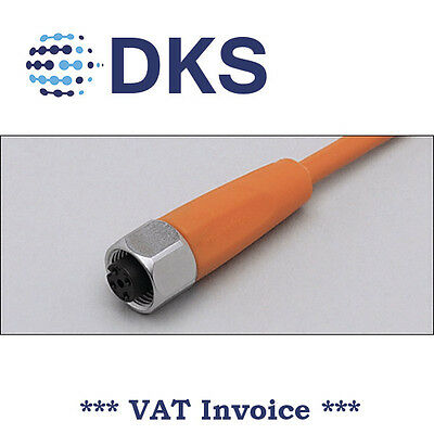 IFM  EVT064 M12 Socket Straight 5 Pin 2m PVC Sensor Cable 000300