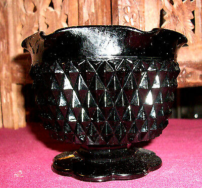 Vintage Black Amethyst  Hobnail Candle Holder ~ Free Shipping