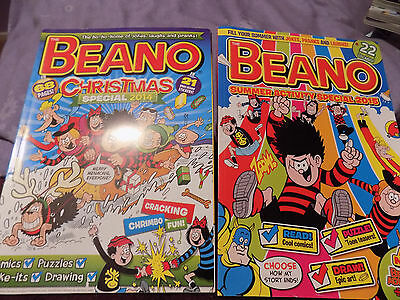 2 BEANO Books xmas 2014, summer special 2015 books mags comics kids childs