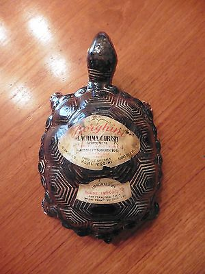 Vintage Borghini Lacrima Christi Turtle White Wine Decanter Bottle ( Empty )