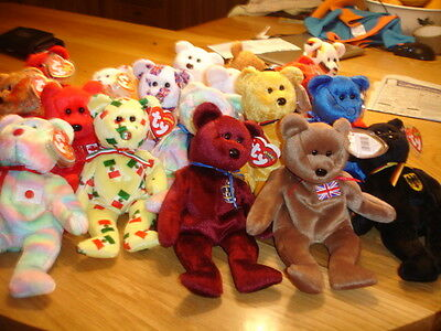 Ty  Retired International Country  Beanie Bears Your Choice