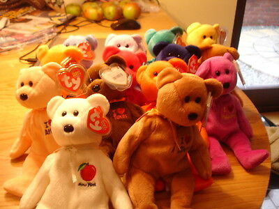 Ty  Retired I Love States/ Cities Country  Beanie Bears Your Choice