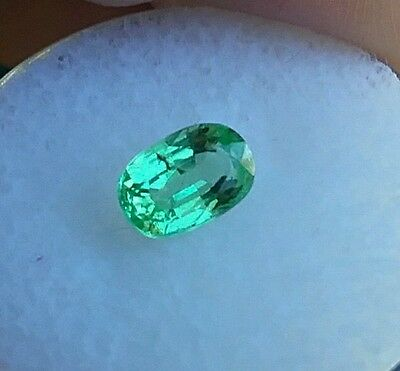 1.10ct. MINT GREEN GARNET TSAVORITE/GROSSULAR MIX-PEACH UNDER U.V BRIGHT