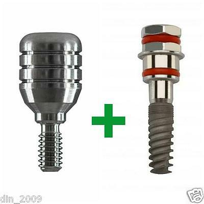 10 units titanium dental implant internal hex +10 healing cup free shipping