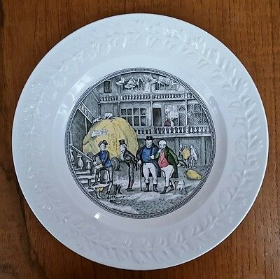 """Adams  Decorative Plate """"first Appearance Of Mr Samuel Weller"""" Charles Dickens"""