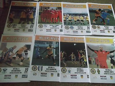 2016/17 New Mills Programme Collection Homes North West Counties League X 8
