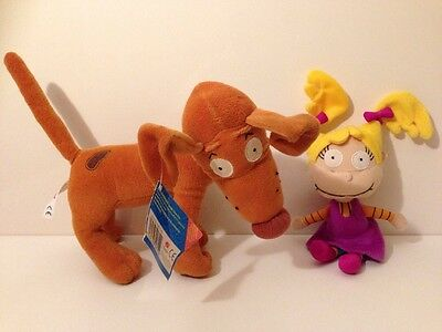 2001 Rugrats Angelica And Spike Plush Soft Toy Bundle