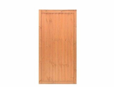 New Timber Gate 0.9 X 1.81M Golden Brown Outdoor Garden Gates Doors Wooden
