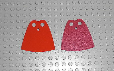 LEGO - 2x Umhang rot / dunkelrot - 2x Cape red / dark red Cloth Mantel Figur 522