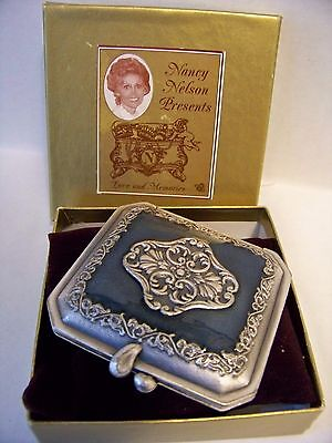 Enameled Compact Mirror and Photo Holder Nancy Nelson Love & Memories Collection