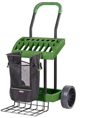 Super-Duty Lawn and Garden Tool Box on Wheels, Deluxe Rolling Cart Tool, Storage