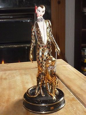 Franklin Mint House of Erte Limited Edition Figurine - Leopard No A 2218 xxx