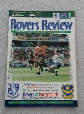 550) Tranmere Rovers v Portsmouth programme league division one 15-8-1998 signed