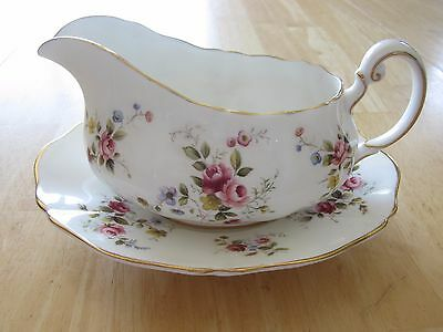 Royal Adderley Fine Bone China - 'Tenderness' Gravy Boat and Plater