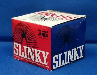 First Edition Vintage 1960's SLINKY JAMES industries  USA CAT NO 100 NEW IN BOX