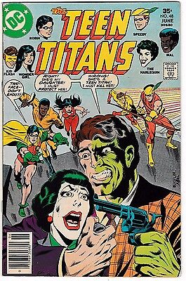 TEEN TITANS #48 (VF) JOKER'S Daughter becomes Harlequin! 1st Bumblebee! DC 1977