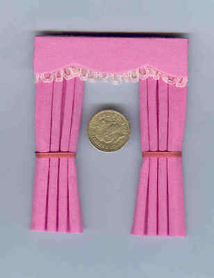 Dolls House Curtains Candy Pink For Dormer Windows