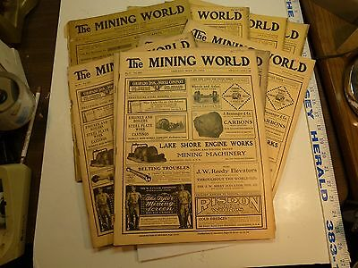 1904 - 1906 The Mining World Chicago 10 Issues Large Format Good Condition