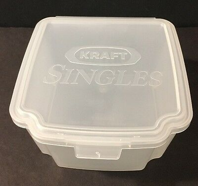 NEW Vintage Collectible KRAFT SINGLES CHEESE Saver Storage Container RARE Clear
