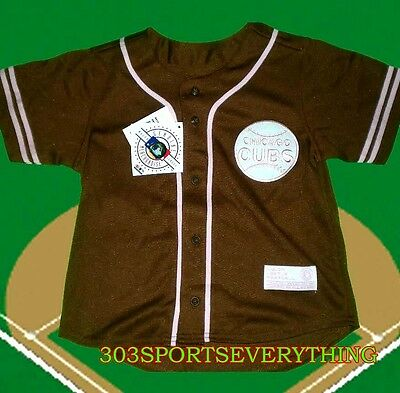 Chicago Cubs Girls Youth Button Up Player Fashion Baseball Game Jersey