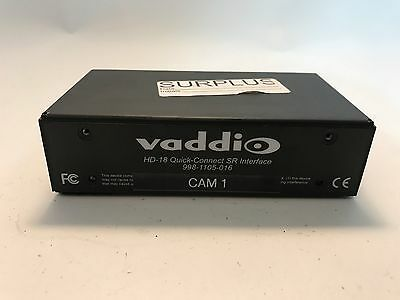 Vaddio HD-18 Quick-Connect SR Interface!