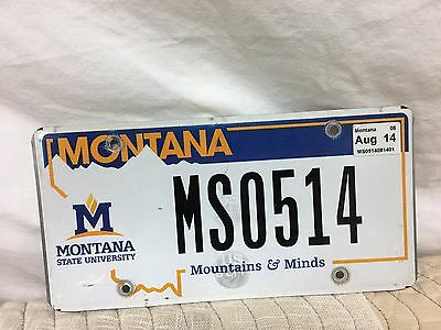 "Montana Specialty Plate ""montana State University Mountain & Minds""  Mso514"