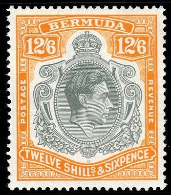 SG 120a Bermuda 12/6 grey & brownish orange. Fine unmounted mint CAT £225