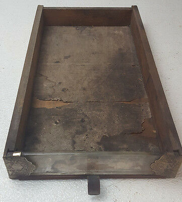 Antique Brainerd & Armstrong Glass Front Pull Drawer Spool Thread