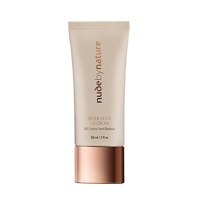 Nude by Nature SHEER GLOW BB CREAM 30ml RRP29.95 (02) Soft Sand