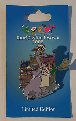 Disney Pin WDW Epcot International Food and Wine Festival 2008 Chef Figment LE