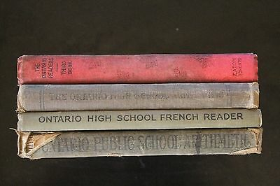 t of 4 Ontario School Books from early 1900's