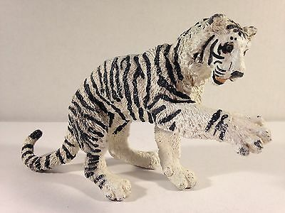 "Vintage Tiger Siberian White 9""  Safari Ltd Vanishing Wild 1990's"
