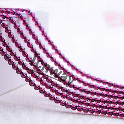 Natural Round 4A  purple tooth Garnet Stone Beads 3mm For Jewelry Making 15inch