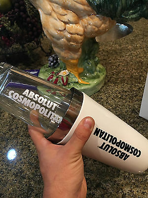 Absolut Vinyl Boston Shaker Set Martini Bar Cocktail Shaker Tin & Mixing glass