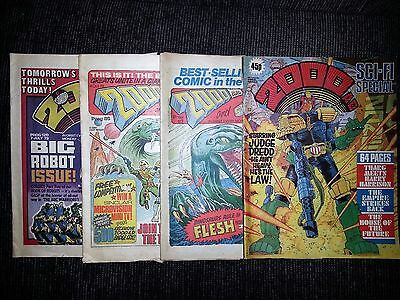 2000 AD  & Star Lord - UK Comics 1978 - 1979 - 4 x Issues (includes Freepost)